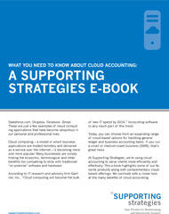 What you Need to Know about Cloud Accounting: A Supporting Strategies E-Book